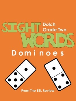 Sight Words Dominoes - Dolch Second Grade