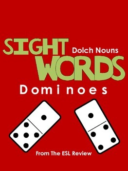 Sight Words Dominoes - Dolch Nouns