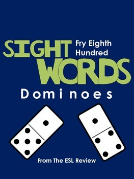 Sight Words Dominoes - Fry Eighth Hundred