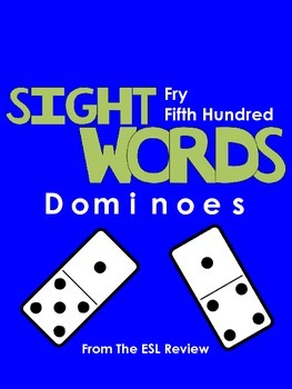 Sight Words Dominoes - Fry Fifth Hundred