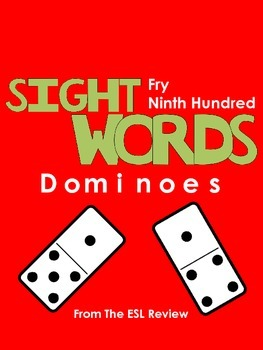 Sight Words Dominoes - Fry Ninth Hundred
