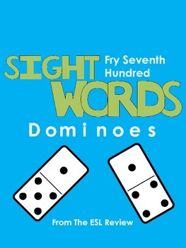 Sight Words Dominoes - Fry Seventh Hundred