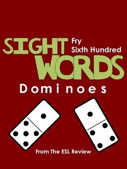 Sight Words Dominoes - Fry Sixth Hundred