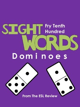 Sight Words Dominoes - Fry Tenth Hundred