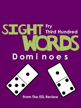 Sight Words Dominoes - Fry Third Hundred