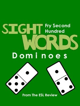 Sight Words Dominoes - Fry Second Hundred