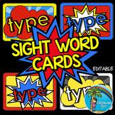 Superhero Sight Words - EDITABLE
