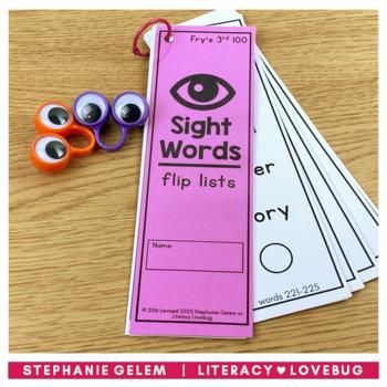 Sight Words Lists Fry's 3rd 100 (EDITABLE)