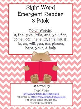 Sight Words Emergent Reader 3 Pack