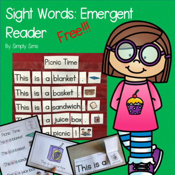 Free Download! Sight Words: Emergent Reader
