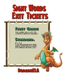 Sight Words Exit Tickets Grade 1