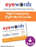 Sight Words Eyewords Multisensory Teaching/Wordwall Cards,