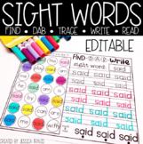 Sight Words! (FIND-DAB-TRACE-WRITE-READ)