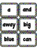 Sight Words FLASHCARDS- Cupcakes (Pre-Primer)