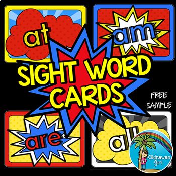 Superhero Sight Words - FREE sample