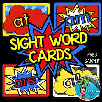 Superhero Sight Words - FREE sample
