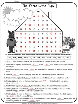 Sight Words - Fairy Tales Solve and Search Jr. Edition {Set 1}