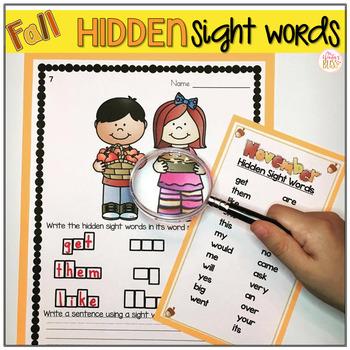 Sight Words {Fall Bundle}