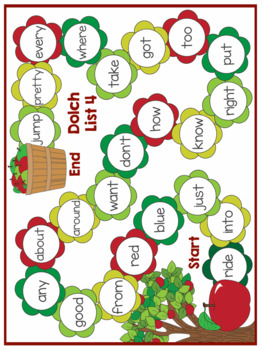 Sight Words - Fall Themed Sight Word Game Boards