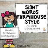 Jan Richardson Sight Words Level A-E  -  Farm House Style
