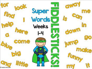 Sight Words Fiddlesticks