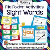 Sight Words - File Folder Activities