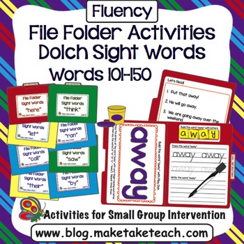 Sight Words - File Folder Activities Dolch Sight Word Lists 5 and 6