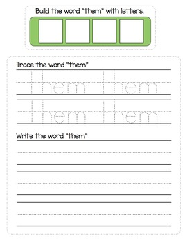 Sight Words - File Folder Activities Dolch Sight Words Lists 3 and 4