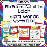 Sight Words - File Folder Activities Dolch Sight Words Lis