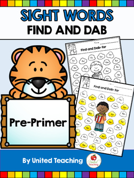 Sight Words Find and Dab Pre Primer Edition