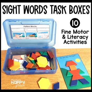 Sight Words Fine Motor Skills Task Boxes