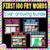 Sight Words (First 100 Fry Words) Ever Growing Bundle   Di