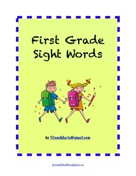 First Grade Sight Words: Practice