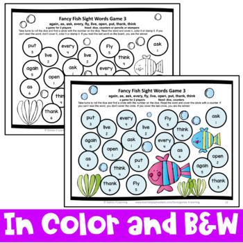 Gorgeous image inside kindergarten sight word games printable