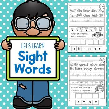 Sight Words (First Grade Dolch List)