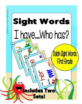 Sight Words First Grade Level Dolch Word List - I Have...
