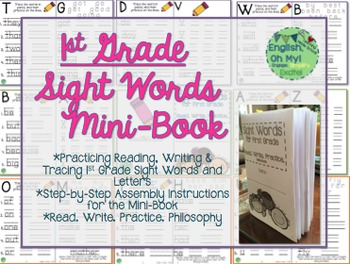 Sight Words-Writing Letters & Words, Mini Book