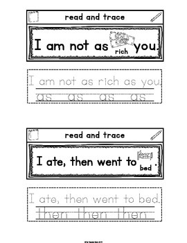 Sight Words Interactive Notebook First Grade List Set 2 (her, some, as, then)