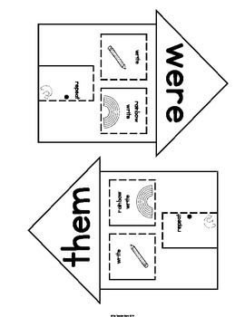 Sight Words Interactive Notebook First Grade List Set 3(could, when, were, them)