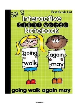 Sight Words First Grade {Set 8} Interactive Notebook (going, walk, again, may)