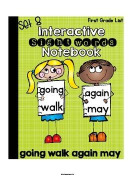 Sight Words First Grade {Set 8} Interactive Notebook (goin