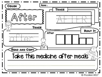 Sight Words (First Grade) -  Trace & Build