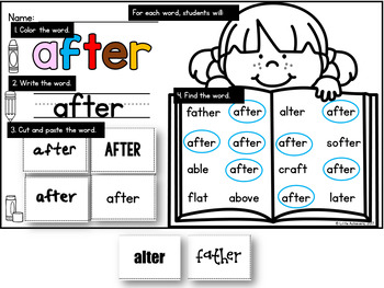 First Grade Sight Words Activities Worksheets | Sight Word Search