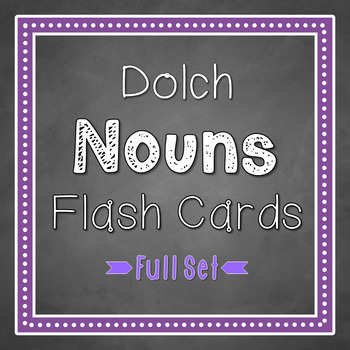 Sight Words Flash Cards: All 95 Dolch Nouns
