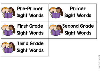 Sight Words Flash Cards - Freebie