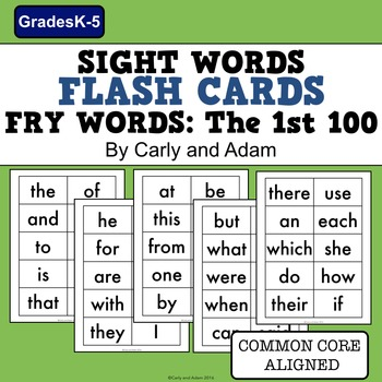 Sight Words Flash Cards (Fry Words: The First Hundred)