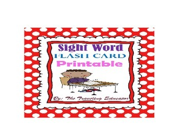 Sight Words Flash Cards (Fry's 1st 300 words) Print on 3 by 5 index cards
