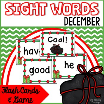 Christmas Sight Word Game & Flash Cards (December)