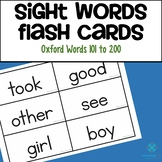 Sight Words Flash Cards - Oxford Word list 101 to 200
