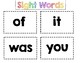 Sight Words Flash Cards Pages 1-11